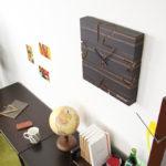 壁掛けフック特典有★ヤマト工芸 電波時計 PUZZLE 黒檀【掛時計 掛け時計 壁掛け時計 木製 …