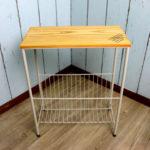 サイドテーブル ヴィンテージ風 ソファサイド ベッドサイドミニテーブル お洒落 リビング 木製 天…