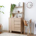 食器棚 レンジ台 キッチン収納 キッチンボード かわいい 北欧 木製 キャビネット チェスト リ…