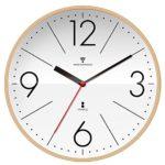 電波掛け時計 掛時計 【白盤/クォーターインデックス】 木製フレーム プライウッド 見やすいシンプ…