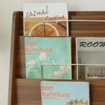 ブックシェルフ 薄型 マガジンラック パンフレットスタンド 本棚 雑誌ラック ブックラック 木製 …