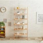 魅せる収納、玄関にも!木製・突っ張り式おしゃれラダーラック20選