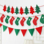クリスマスガーランド トナカイ 英文 Merry Christmas ツリー 旗 インテリア ガー…