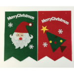 かわいい フェルト クリスマス ガーランド サンタ ツリー トナカイ スノーマン 雪だるま ベル …