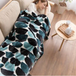 北欧 デザイン 洗える 毛布 ダブルサイズ 180×200cm boul柄 ブランケット ひざ掛け…
