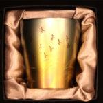 敬老の日【チタン タンブラー】秋茜 ペア 保温 保冷 おしゃれ 二重 名入れ カップ コーヒー 米…