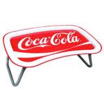 【コカコーラ(Coca Cola)ミニテーブル】メタル ラップトレー 折りたたみテーブル サイドテ…