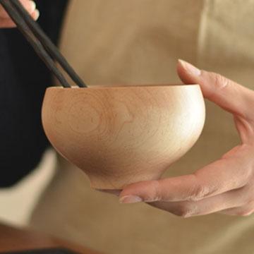 おしゃれな木製お椀