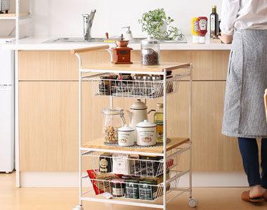 一人暮らしに便利!炊飯器が置けるおしゃれなキッチンワゴンおすすめ10選