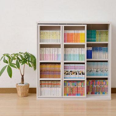 おしゃれなスライド式本棚