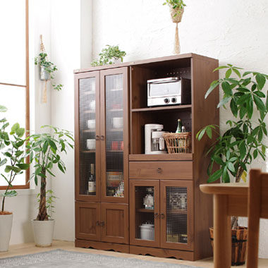 木製のキッチンラック