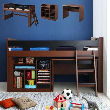 ベッドつきのおしゃれな学習机