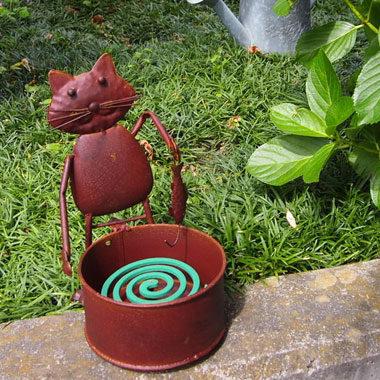 猫モチーフの蚊取り線香