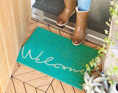 汚れ落としに最適!おしゃれな天然素材の屋外玄関マットおすすめ10選