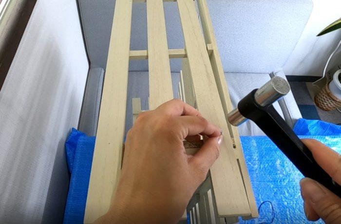 すのこ絵本棚DIY