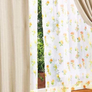 花柄カーテン通販