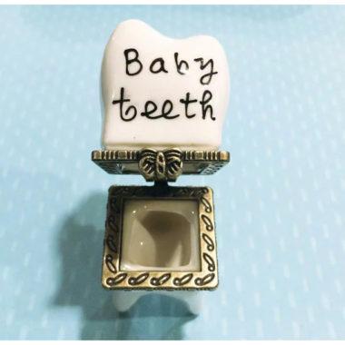 箱型タイプのおしゃれな乳歯ケース