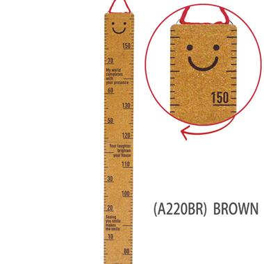 おしゃれな木製の身長計