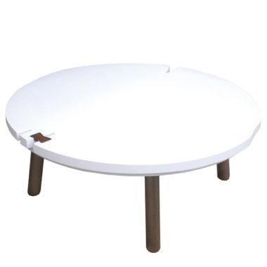おしゃれな白のこたつテーブル