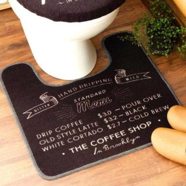 おしゃれなカフェ風トイレマット