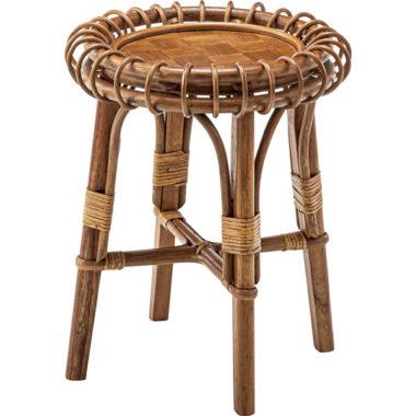 おしゃれなラタン製サイドテーブル